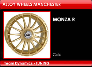 Monza R Gold Alloy Wheels