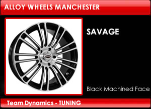 Team Dynamics Savage Alloy Wheels  Black Machined Face